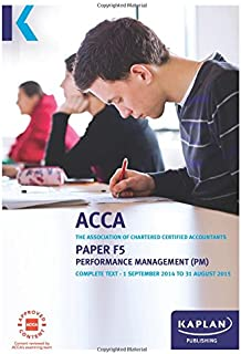 F5 Performance Management - Complete Text: Paper F5