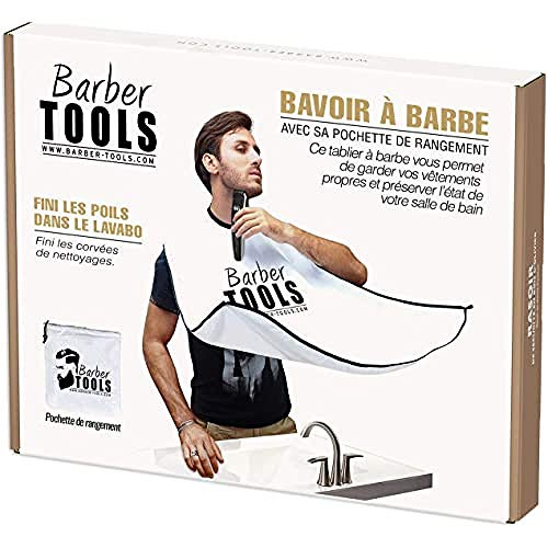 Bavoir/Tablier/Cape à barbe avec sa sacoche de...