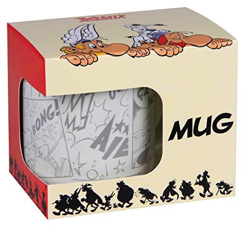 Clairefontaine 812938C - Un mug ''Astérix Comics'' 8x9,5 cm en boite individuelle, visuel Astérix et Obélix