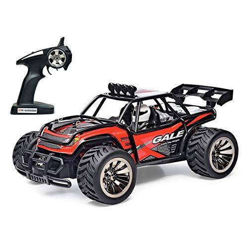 Hging Terrain RC Vehículo - 1:16 Camión de Control Remoto, Hobby Off Road High Speed 15 km/h, Todos los terrenos Vehículos eléctricos RC Cars Toy For Boys Girl Edad 8-12 Regalo, 2 baterías Recarga