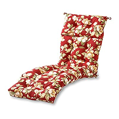 Greendale Home Fashions AZ4804-ROMAFLORAL Tuscan Floral 72 x 22-inch Outdoor Chaise Lounge Cushion