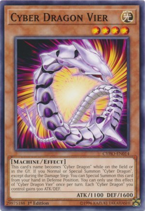 Yu-Gi-Oh! - Cyber Dragon Vier - CYHO-EN014 - Common - 1st Edition - Cybernetic Horizon
