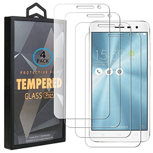 Ycloud 4 Pack Vidrio Templado Protector para ASUS Zenfone 3 ZE552KL, [9H...