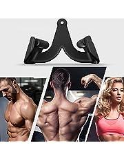 TTLIFE Fitness kabel machine handvat, kabel katrol handvat bevestiging met rubberen handgrepen, voor biceps en triceps training, bodybuilding, roeiwagen machine krachttraining kit