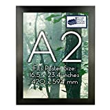 Poster Frame   A1 A2 A3 A4 A5 Sizes   1.25 Inch Black Frame   Includes Hanging...