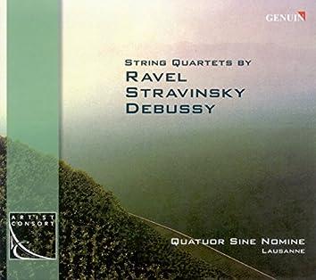Ravel, M.: String Quartet / Stravinsky, I.: 3 Pieces for String Quartet / Debussy, C.: String Quartet