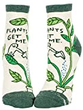 Plants Get Me. Blue Q Women's Funny Ankle Socks, for plant lovers (fits shoe size 5-10)