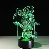Nuevo 3D Night Light 3D LED Night Night Visual USB Lámpara de mesa Baby Sleeping Light Fixture Cute Animal Duck Shape Lamp Decor