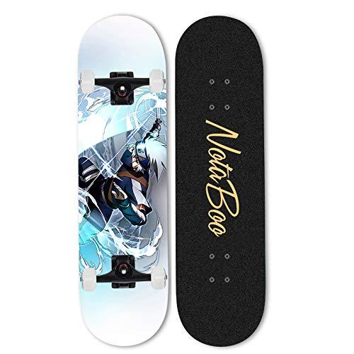 Ayyayy Siguiente: Hatake Kakashi Skateboard completo Pro Skateboard-7 capas canadiense Maple Skill Skill, 31 pulgadas x 8 pulgadas canadiense Maple Professional Cruiser