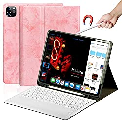 """➤【IPAD PRO 12.9"""" KEYBOARD CASE】Compatible with ipad pro 12.9 inch 2nd Gen 2020 (Model Number: A2228/A2068/A2230/A2231) / 1st Gen 2018 (Model Number: A1980/A2013/A1934/A1979) Perfectly compatible with apple pencil wireless charging without removing th..."""