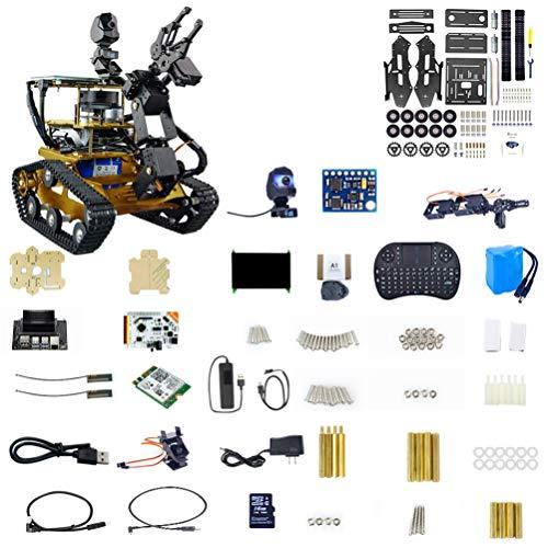 ZDSKSH Roboter Bausatz mit 1080P HD Kamera, DIY Raspberry Pi Roboter, 4 DOF Mechanischer Arm, Programmierbare Roboter Spielzeug, Baukasten elektronisches mit 7 Zoll Touchscreen