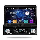 ANDROID 7.1 Allwinner T3 GPS DVD USB SD WI-FI DAB+ TPMS MirrorLink Bluetooth autoradio 1 DIN navigatore universale con monitor estraibile