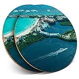 Destination Vinyl ltd - Posavasos (2 Unidades), diseño de Playa de Cancún