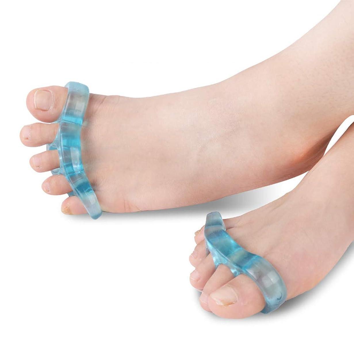 ラウズ毒性先つま先セパレーター5穴つま先反曲がり変形補正はヨガと運動後の痛みを和らげるために外反母趾スリッパを防ぎます,L