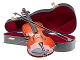 aubaho Miniatur Geige Violine mit Bogen und Koffer zur Dekoration im antik Stil
