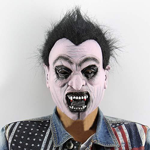 OoB Masque de Vampire Effrayant en Latex Masque de Zombie À Dents d'horreur avec Sangle Élastique pour la Fête de Costume de Mascarade d'halloween