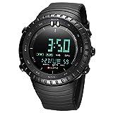Sailine, orologio da polso digitale da uomo, alla moda, in plastica, impermeabile, militare, sportivo, multifunzione, con LED (black)