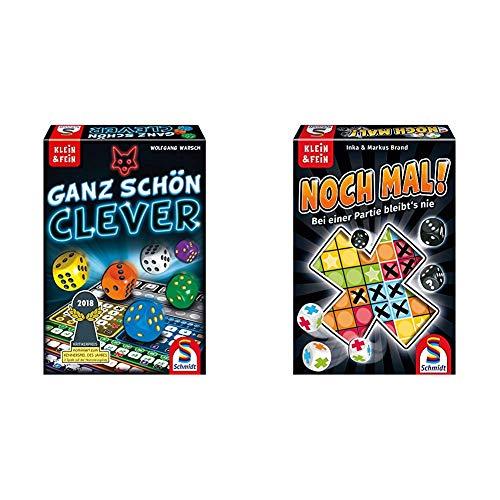 Schmidt Spiele 49340 Ganz Schön Clever, Würfelspiel aus der Serie Klein & Fein, bunt & Spiele 49327 Noch mal!