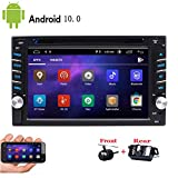 Dual Cameras + Android 10.0 Car Stereo Double Din GPS Navigation in Dash