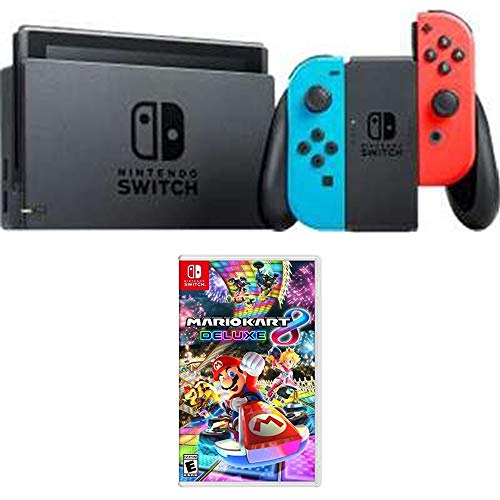 Nintendo Switch 32 GB Console with Neon Blue and Red Joy-Con (HACSKABAA) Mario Kart 8 Deluxe for Switch