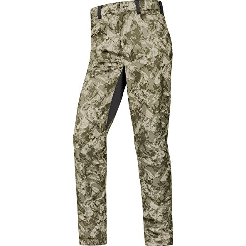 GORE WEAR Herren Pants Element Urban Print Windstopper Soft Shell, Camouflage, L