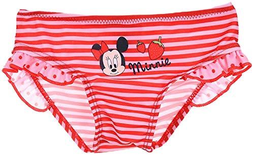 Disney Minnie Zwembroek met ruches gestreept rood 12M (12 maanden)