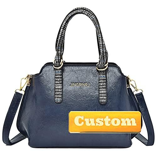 RXDZ Bolso bandolera para niña, con nombre personalizado, para mujer, mini mochila (color azul, tamaño: talla única)