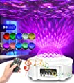 Star Projector Night Light, Galaxy Projector Star Light Projector for Bedroom for Kids, Ocean Wave Projector with Led Nebula, Bluetooth Music Speaker & Upgraded Music Mode, for Party/Room Decor