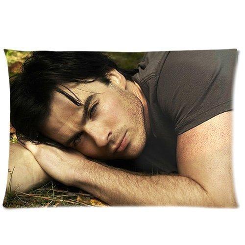 Best Music Posters - Federa per cuscino con cerniera, motivo 'Vampire Diaries' Damon Salvatore Ian Somerhalder, 50 x 80 cm (due lati)