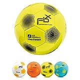 meteor Balón de Fútbol para Niños y Juventud y Adultos Tamaño 5 4 3 1 para Ejercicio Al Aire Libre Juego Entrenamiento de Football (#5, Amarillo)