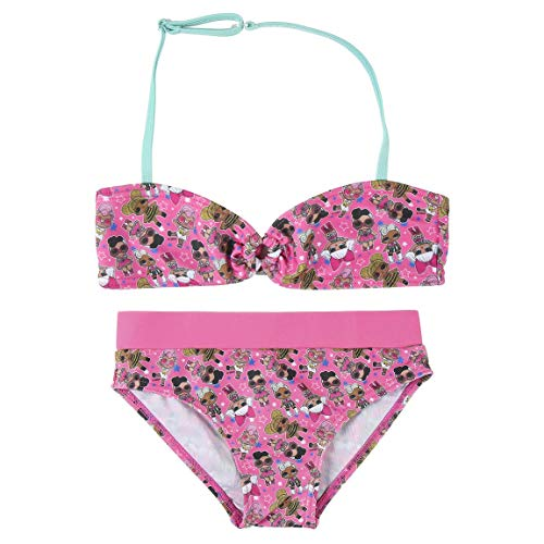 Cerdá Bikini Niña LOL de 2 Piezas Traje de baño, Rosa, 5 Años para Niñas