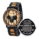 BOBO BIRD Mens Personalized Engraved Wooden Watches, Stylish Wood & Stainless Steel Combined Quartz...