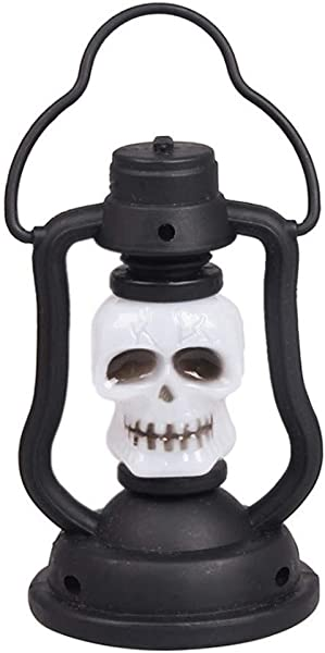 DRAGONHOO Halloween Skull Light Lighthouse Halloween Skull LED Automatic Gradual Change Home Night Light LED Lantern Hanging Candlelight Light Party For Garden Patio Bar Multicolor
