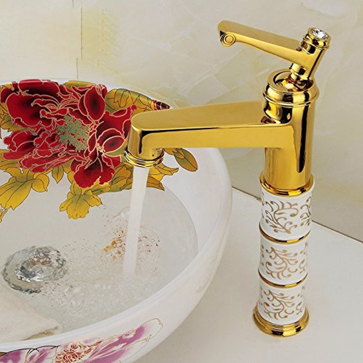 Commercial Single Lever Pull Down Kitchen Sink Faucet Brass Constructed Polished Ceramic Hot and Cold Water Faucet, Kitchen Faucet, Above Counter Basin Faucet, Single-Type Mixing Faucet