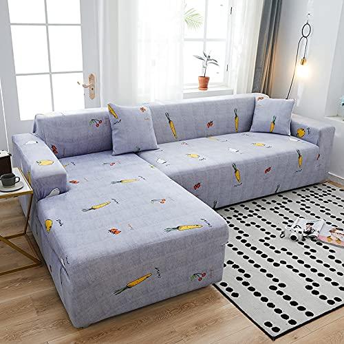 Funda de sofá elástica, Utilizada para la decoración de la Sala de Estar, Funda de sofá de impresión, Suave, Universal, Funda elástica de sección Transversal A15 de 4 plazas