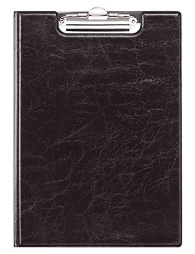 Durable 235501 Blockmappe A4, aufklappbar mit Federklemme und Innentaschen, schwarz