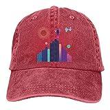 RFTGB Gorras Unisex Accesorios Sombreros Gorras de béisbol Sombreros de Vaquero Wave City Denim Baseball Cap, Unisex Vintage Dad Hat, Golf Hats, Adjustable Plain Cap