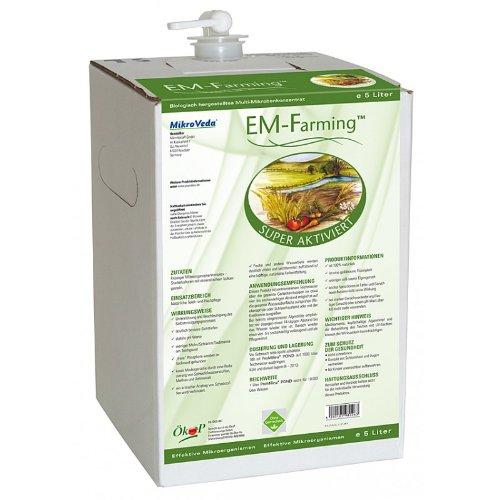 5 litros de solución preparada de embrión superactivada (EM-A), microorganismos eficaces (EM)