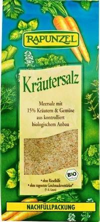 Rapunzel Kräutersalz mit 15% Kräutern und Gemüse, 4er Pack (4 x 500g) - Bio