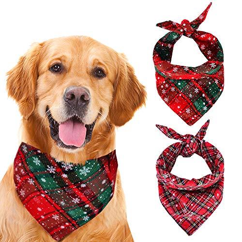 ZOORON Dog Bandana Christmas, Pet Bandanas Triangle Bibs Washable