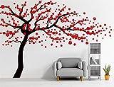 Autocollant mural Rocwart - Motif d'arbre en fleurs - Décoration murale amovible...