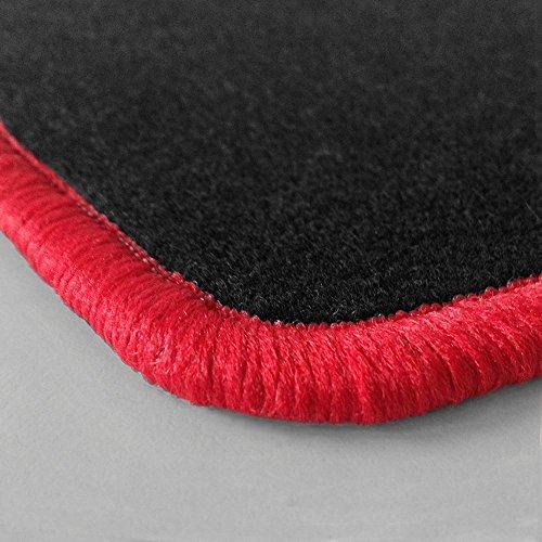 Randfarbe nach Wahl ! Passgenaue Fußmatten aus Nadelfilz mit rotem Rand (103) für Chevrolet Blazer S10 2WD Baujahr 1982-2005