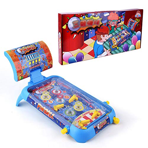 HRXQ Pinball Mini Pinball Toy Children Play Electronic Super Pinball Game Parent New Fun-Tastic Toy Story Máquina Electrónica De Pinball con Luces Y Sonidos