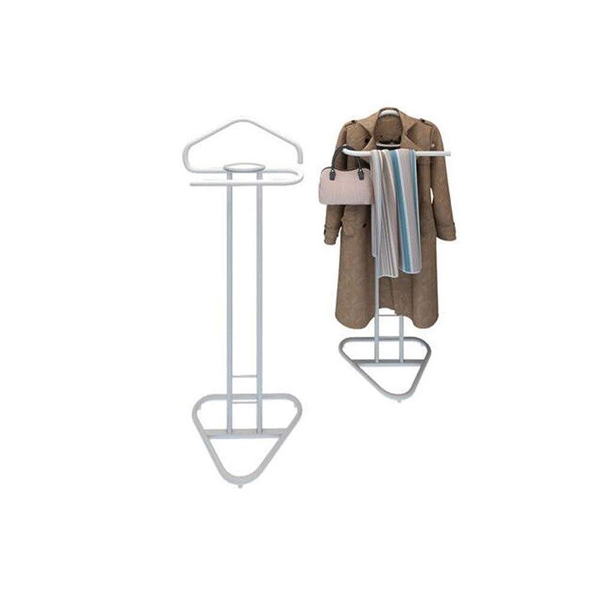 モニター本土道路を作るプロセスCHAHANG 天井ハンガーシンプルな服にコートラックフロアコートフロアハンガースーツラックホワイトスタンド (Color : Black)