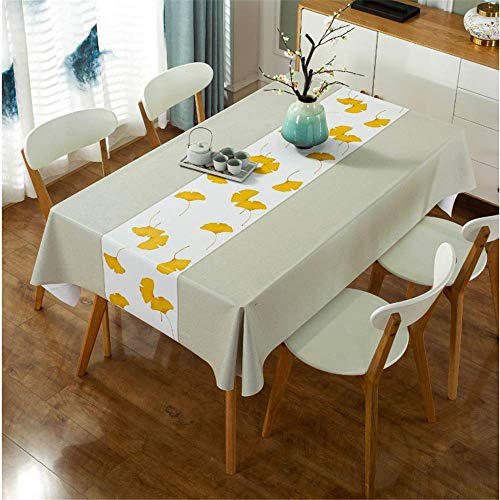 Simple Printing Pastoral Style Table Cloth, Pvc Rectangular Waterproof And Anti-Scald And Oil-Proof Tablecloth