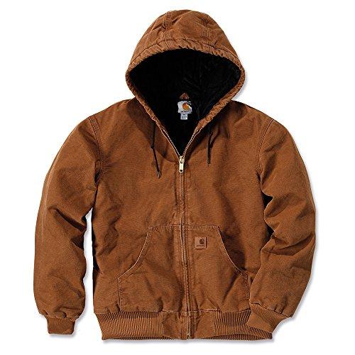 Carhartt Workwear Arbeitsjacke Quilted Flanell Lined Sandstone Active Jacket XXL, braun, J130