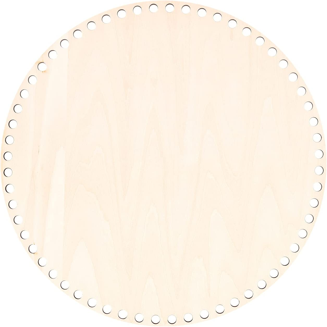 PH PandaHall 30cm Natural Ranking TOP3 Wooden Alternative dealer Hole with Basket Bottom Circle