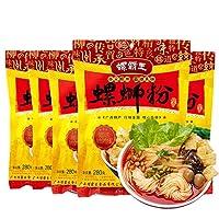 柳州 螺霸王螺蛳粉【5点セット】インスタント麺 好吃的速食米粉 ルオスーフエン 中華食材 広西省名物 280g