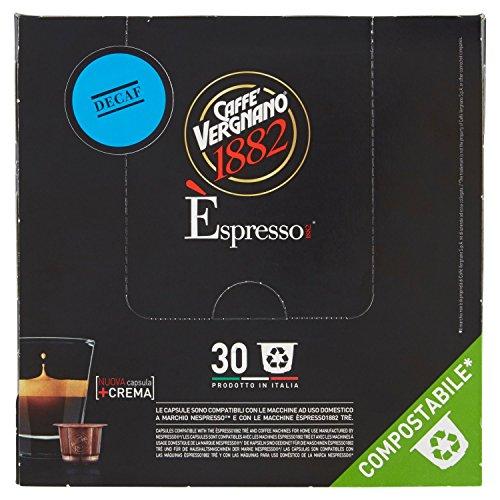 Caffè Vergnano 1882 Èspresso 1882 Dec - 30 Capsule - Compatibili Nespresso, Compostabili