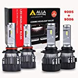 ALLA Lighting S-HCR 9005 9006 LED Headlight Bulbs Combo 10000Lms Xtremely Super...